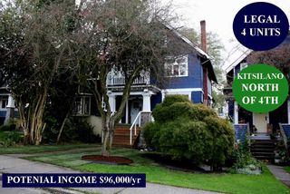 Photo 1: 3624 W 3RD Avenue in Vancouver: Kitsilano House for sale (Vancouver West)  : MLS®# R2463734