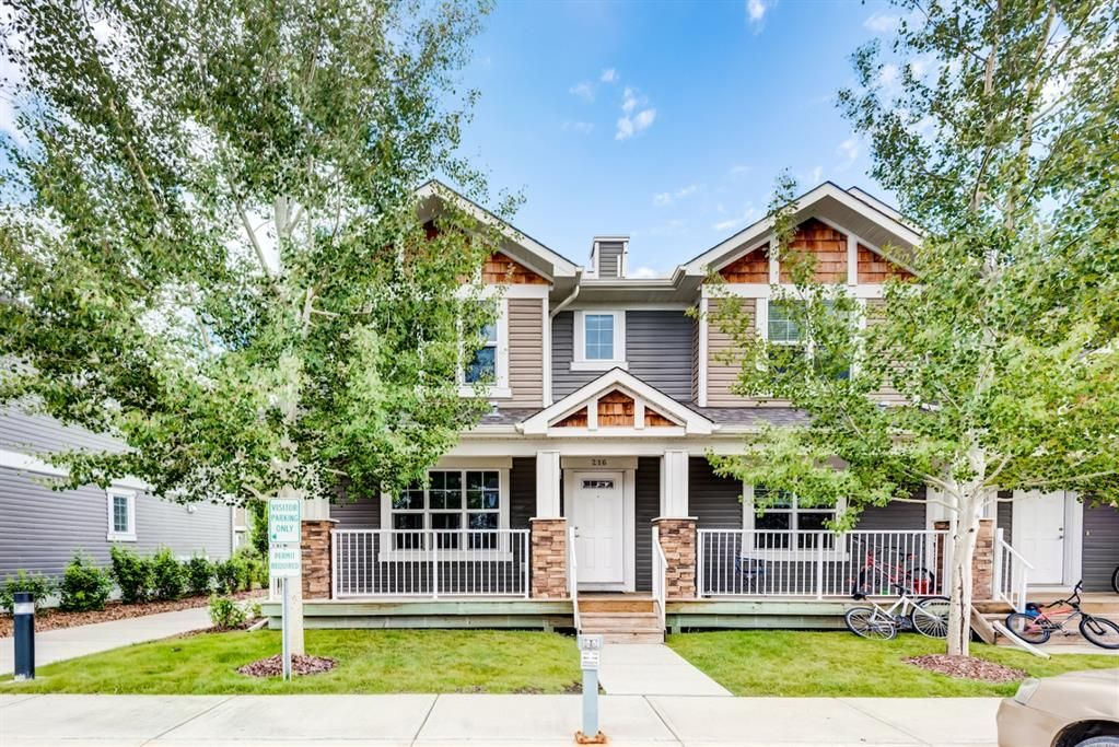 Main Photo: 216 Cranberry Park SE in Calgary: Cranston Row/Townhouse for sale : MLS®# A1141876