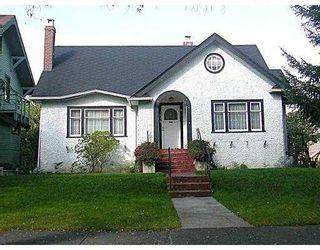Main Photo: 1855 W 15TH AV in Vancouver: Kitsilano House for sale (Vancouver West)  : MLS®# V556608