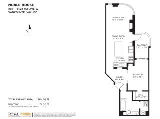 """Photo 25: 205 2428 W 1ST Avenue in Vancouver: Kitsilano Condo for sale in """"NOBLE HOUSE"""" (Vancouver West)  : MLS®# R2591111"""