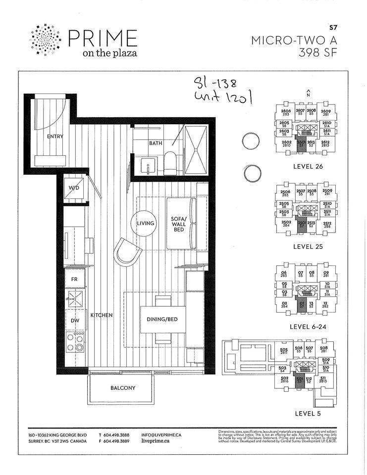 Photo 2: Photos: 1201 13438 103 Avenue in Surrey: Whalley Condo for sale (North Surrey)  : MLS®# R2225183