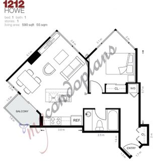 """Photo 19: 605 1212 HOWE Street in Vancouver: Downtown VW Condo for sale in """"1212 Howe"""" (Vancouver West)  : MLS®# R2091992"""