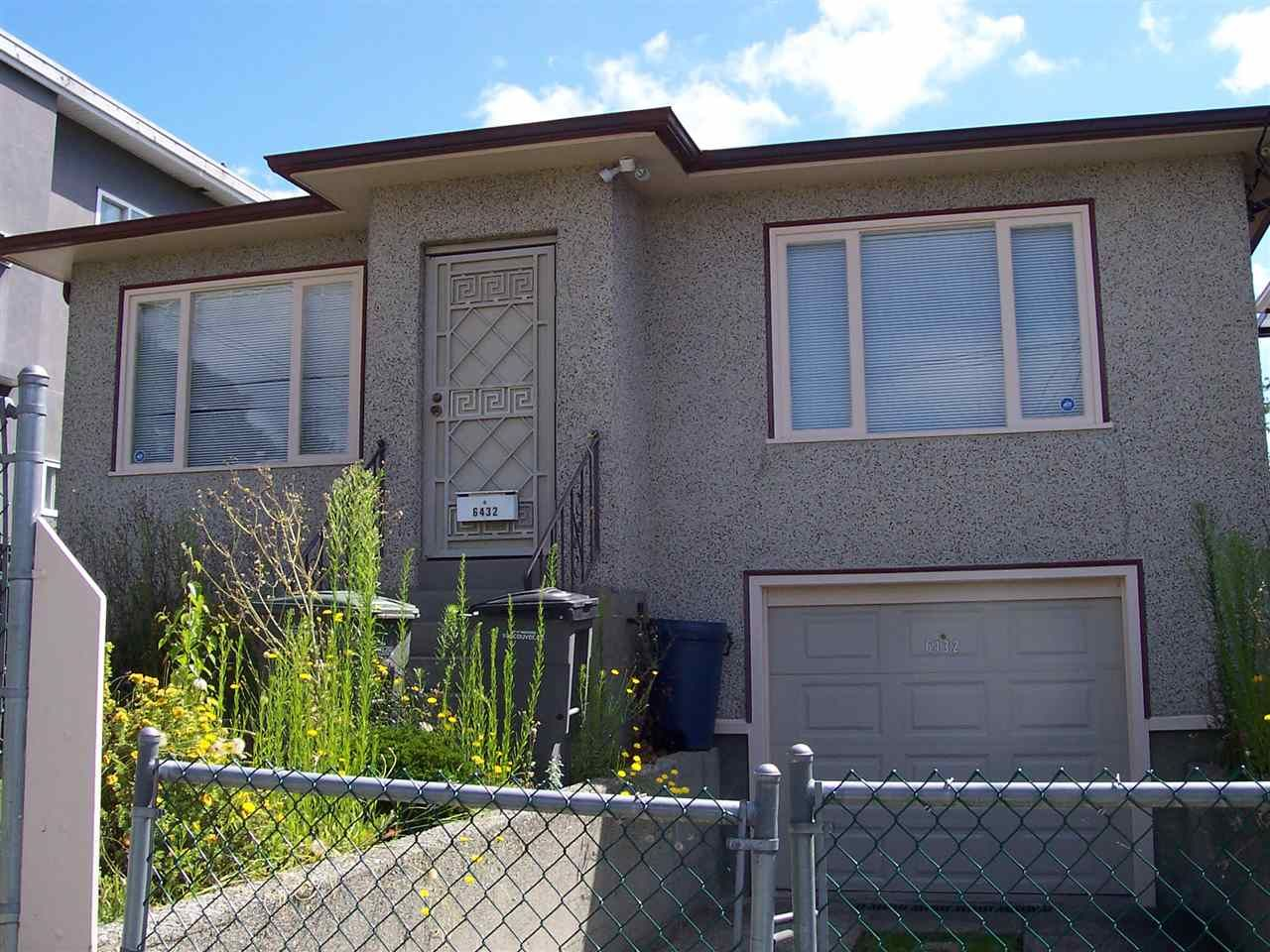 Main Photo: 6432 ST. GEORGE STREET in Vancouver: Fraser VE House for sale (Vancouver East)  : MLS®# R2192763