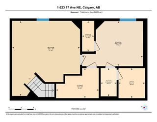 Photo 34: 1 223 17 Avenue NE in Calgary: Tuxedo Park Row/Townhouse for sale : MLS®# A1119296