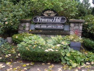 """Photo 1: 8826 LARKFIELD Drive in Burnaby: Forest Hills BN Townhouse for sale in """"PRIMROSE HILL"""" (Burnaby North)  : MLS®# V1028812"""