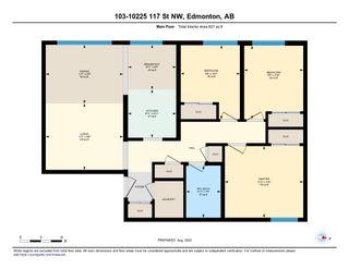 Photo 34: 103 10225 117 Street in Edmonton: Zone 12 Condo for sale : MLS®# E4242646
