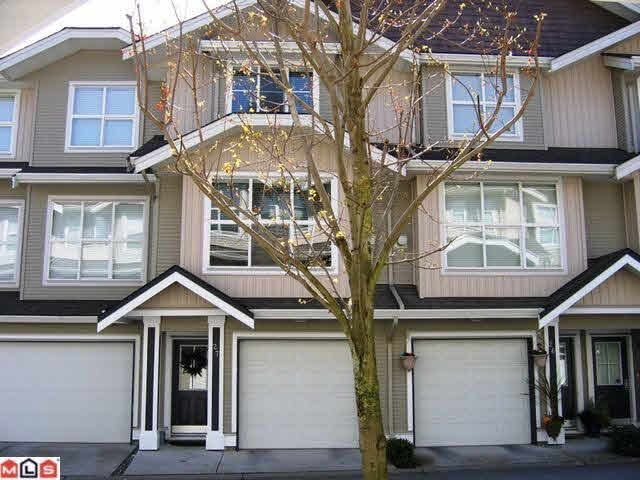 Main Photo: 33 20460 66TH AVENUE in Langley: Willoughby Heights Townhouse for sale ()  : MLS®# F1100445