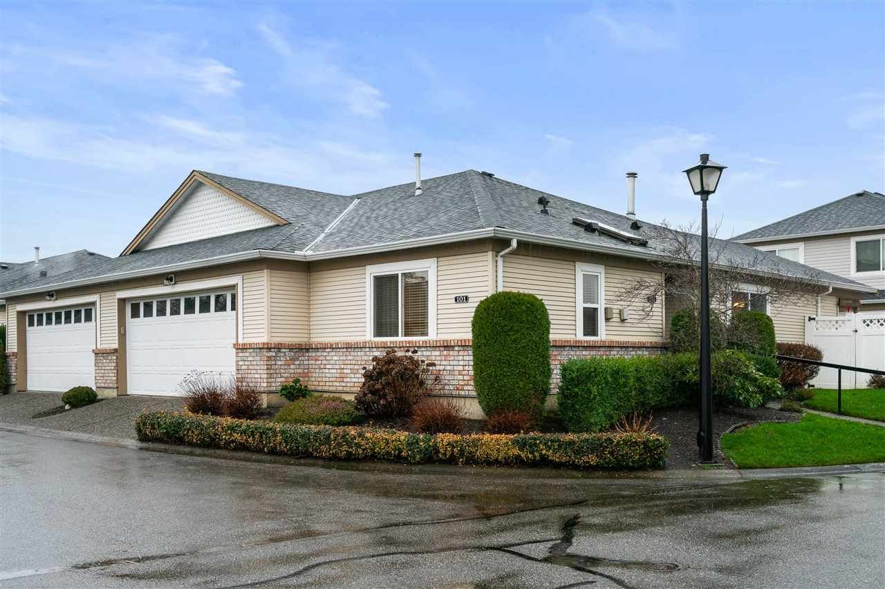 """Main Photo: 101 8485 YOUNG Road in Chilliwack: Chilliwack W Young-Well 1/2 Duplex for sale in """"HAZELWOOD GROVE"""" : MLS®# R2523942"""