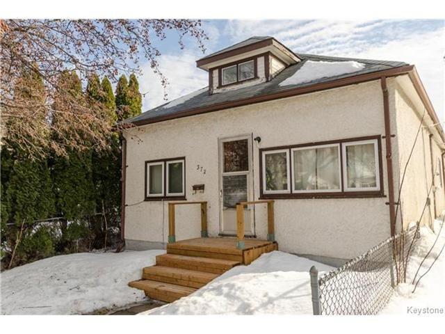 Main Photo: 372 Eugenie Street in Winnipeg: Norwood Residential for sale (2B)  : MLS®# 1703322