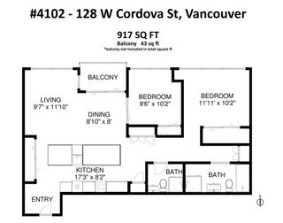 "Photo 18: 4102 128 W CORDOVA Street in Vancouver: Downtown VW Condo for sale in ""WOODWARDS"" (Vancouver West)  : MLS®# R2415253"