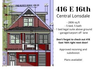Main Photo: 416 E 16 Street in North Vancouver: Central Lonsdale House for sale : MLS®# R2591234
