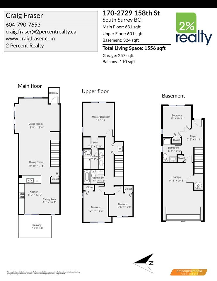 "Photo 23: Photos: 170 2729 158 Street in Surrey: Grandview Surrey Townhouse for sale in ""Kaledan"" (South Surrey White Rock)  : MLS®# R2504505"