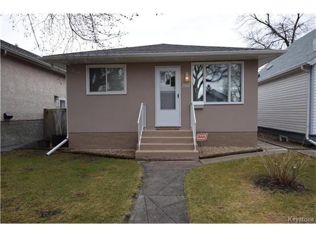 Main Photo: 381 Melbourne Avenue in Winnipeg: East Kildonan Residential for sale (3D)  : MLS®# 1708621