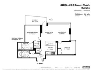 """Photo 16: 2806 4880 BENNETT Street in Burnaby: Metrotown Condo for sale in """"CHANCELLOR"""" (Burnaby South)  : MLS®# R2579804"""