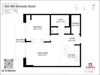 "Photo 26: 605 989 RICHARDS Street in Vancouver: Downtown VW Condo for sale in ""The Modrian"" (Vancouver West)  : MLS®# R2561153"