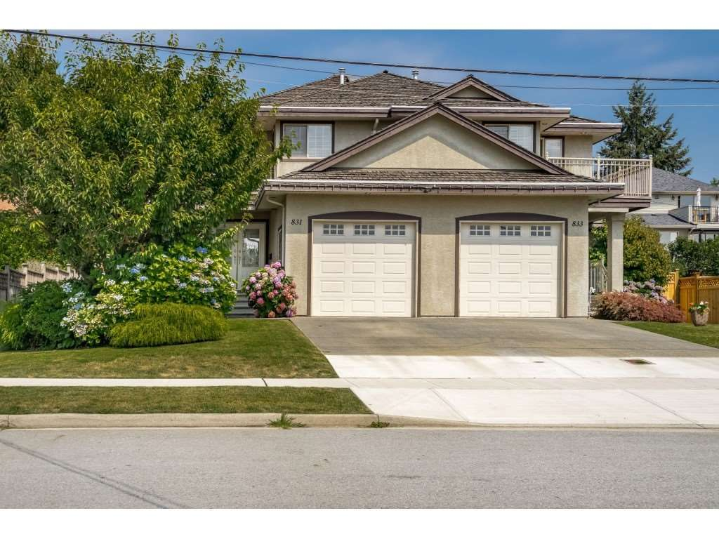 Main Photo: 831 QUADLING Avenue in Coquitlam: Coquitlam West 1/2 Duplex for sale : MLS®# R2412905