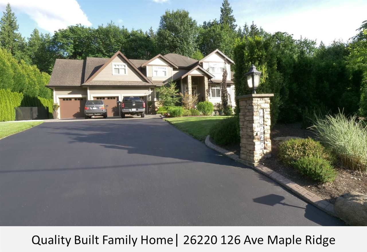 """Main Photo: 26220 126 Avenue in Maple Ridge: Websters Corners House for sale in """"Whispering Falls"""" : MLS®# R2595589"""