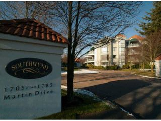 """Photo 1: 412 1785 MARTIN Drive in Surrey: Sunnyside Park Surrey Condo for sale in """"SOUTHWYND"""" (South Surrey White Rock)  : MLS®# F1419891"""