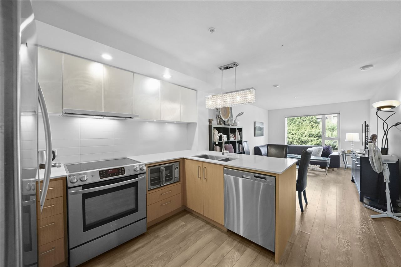 Beautiful kitchen open to dining & living room.