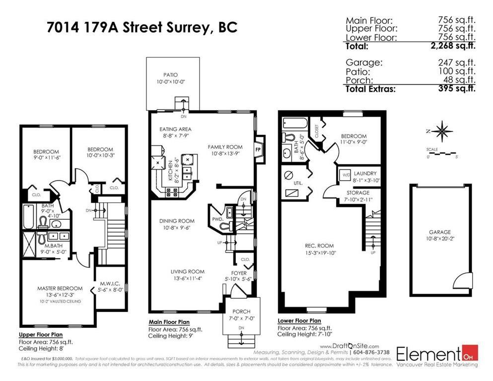 """Photo 20: Photos: 7014 179A Street in Surrey: Cloverdale BC Condo for sale in """"TERRACES AT PROVINCETON"""" (Cloverdale)  : MLS®# R2391476"""
