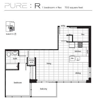 """Photo 9: 1502 1252 HORNBY Street in Vancouver: Downtown VW Condo for sale in """"PURE"""" (Vancouver West)  : MLS®# V702170"""