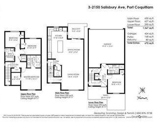 Photo 20: 3 2150 SALISBURY Avenue in Port Coquitlam: Glenwood PQ Townhouse for sale : MLS®# R2318094