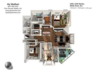 """Photo 1: 301 1550 MARTIN Street: White Rock Condo for sale in """"SUSSEX HOUSE"""" (South Surrey White Rock)  : MLS®# F1313261"""