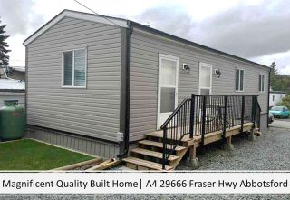 """Main Photo: A4 29666 FRASER HIGHWAY in Abbotsford: Aberdeen Manufactured Home for sale in """"Aloha Manufctured Homes & RV Park"""" : MLS®# R2586607"""
