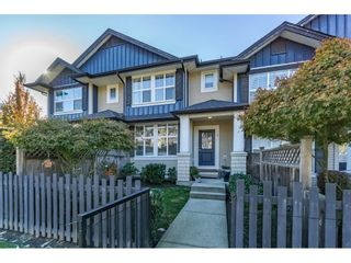 """Photo 1: 2 18199 70 Avenue in Surrey: Cloverdale BC Townhouse for sale in """"AUGUSTA"""" (Cloverdale)  : MLS®# R2216334"""