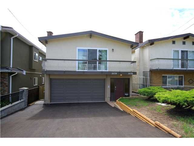 Main Photo: 3578 WELLINGTON Avenue in Vancouver: Collingwood VE House for sale (Vancouver East)  : MLS®# V967871