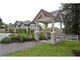 """Photo 1: 24 6238 192 Street in Surrey: Cloverdale BC Townhouse for sale in """"Bakerview Terrace"""" (Cloverdale)  : MLS®# R2232209"""