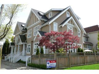 """Photo 1: 698 W 13TH Avenue in Vancouver: Fairview VW Townhouse for sale in """"HEATHER CROSSING"""" (Vancouver West)  : MLS®# V823692"""