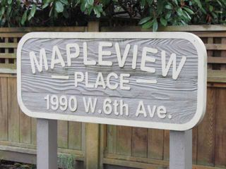 """Photo 2: 108 1990 W 6TH Avenue in Vancouver: Kitsilano Condo for sale in """"MAPLEVIEW PLACE"""" (Vancouver West)  : MLS®# V878026"""