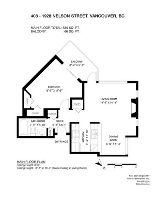 """Photo 2: 408 1928 NELSON Street in Vancouver: West End VW Condo for sale in """"WESTPARK HOUSE"""" (Vancouver West)  : MLS®# R2592664"""