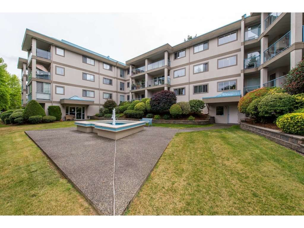 "Main Photo: 103 33090 GEORGE FERGUSON Way in Abbotsford: Central Abbotsford Condo for sale in ""Tiffany Place"" : MLS®# R2394882"
