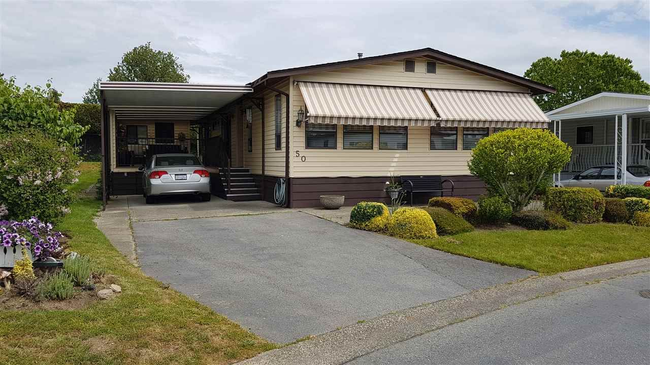 """Main Photo: 50 2303 CRANLEY Drive in Surrey: King George Corridor Manufactured Home for sale in """"SUNNYSIDE ESTATES"""" (South Surrey White Rock)  : MLS®# R2370362"""