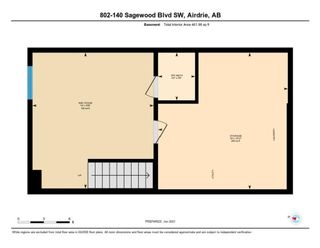 Photo 33: 802 140 Sagewood Boulevard SW: Airdrie Row/Townhouse for sale : MLS®# A1114716