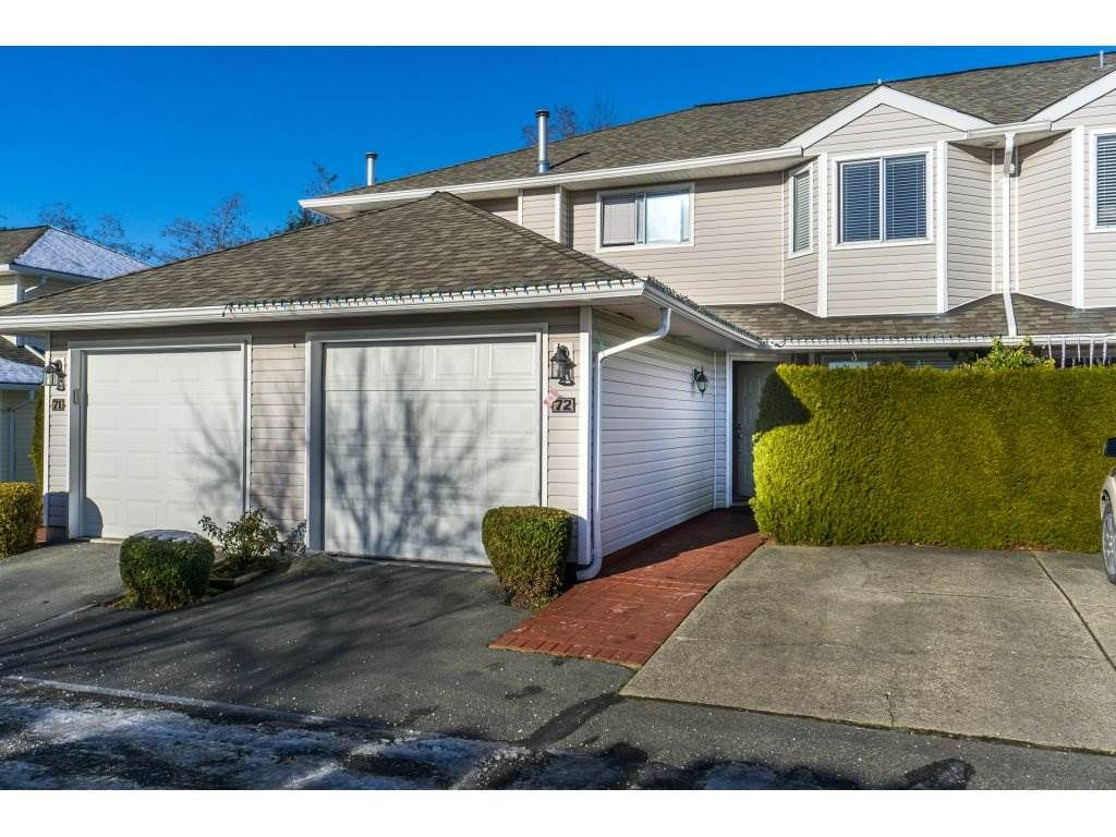 "Main Photo: 72 21928 48 Avenue in Langley: Murrayville Townhouse for sale in ""Murray Glen"" : MLS®# R2229327"