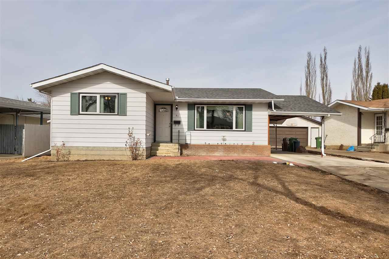 Main Photo: 31 LAROSE Drive: St. Albert House for sale : MLS®# E4236989