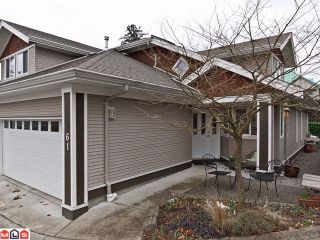 """Photo 1: 61 15133 29A Avenue in Surrey: King George Corridor Townhouse for sale in """"STONEWOODS PHASE 3"""" (South Surrey White Rock)  : MLS®# F1206072"""