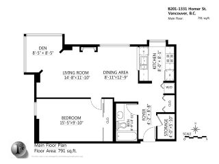 """Photo 13: B201 1331 HOMER Street in Vancouver: Yaletown Condo for sale in """"PACIFIC POINT"""" (Vancouver West)  : MLS®# V1031443"""
