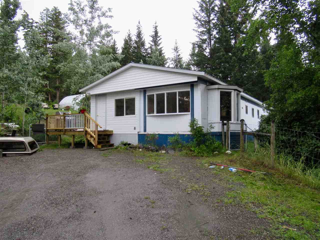 Main Photo: 270 JEFFERSON Road: 150 Mile House Manufactured Home for sale (Williams Lake (Zone 27))  : MLS®# R2385639