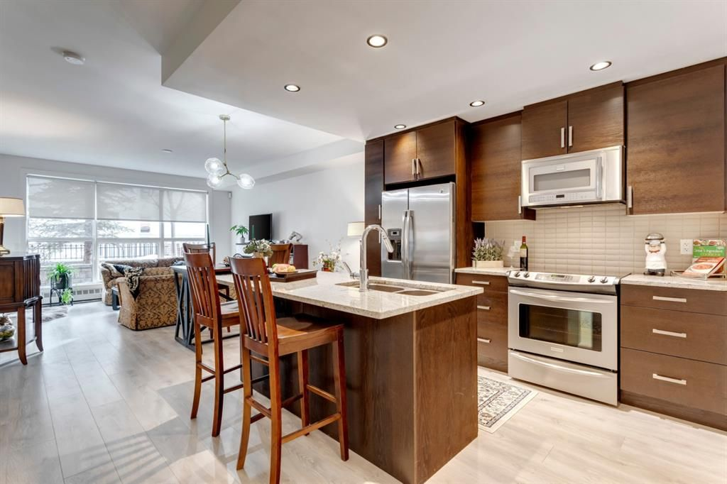 Photo 2: Photos: 105 1730 5A Street SW in Calgary: Cliff Bungalow Apartment for sale : MLS®# A1075033