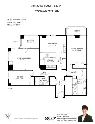 """Photo 32: 806 5657 HAMPTON Place in Vancouver: University VW Condo for sale in """"STRATFORD"""" (Vancouver West)  : MLS®# R2541354"""
