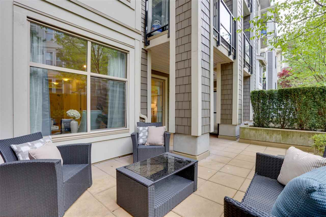 """Main Photo: 108 240 FRANCIS Way in New Westminster: Fraserview NW Condo for sale in """"The Grove"""" : MLS®# R2576310"""