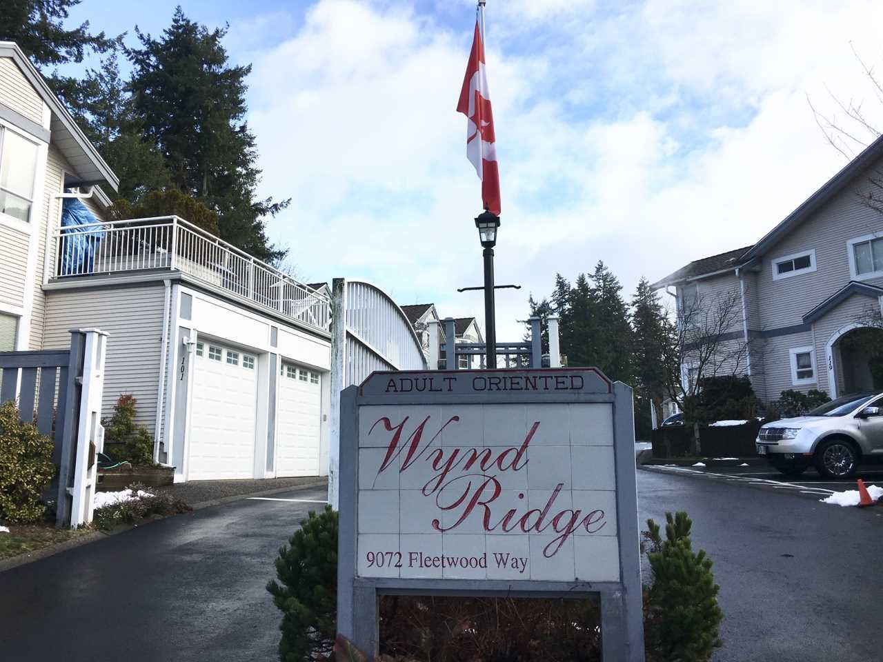 "Main Photo: 217 9072 FLEETWOOD Way in Surrey: Fleetwood Tynehead Townhouse for sale in ""WYND RIDGE"" : MLS®# R2240742"