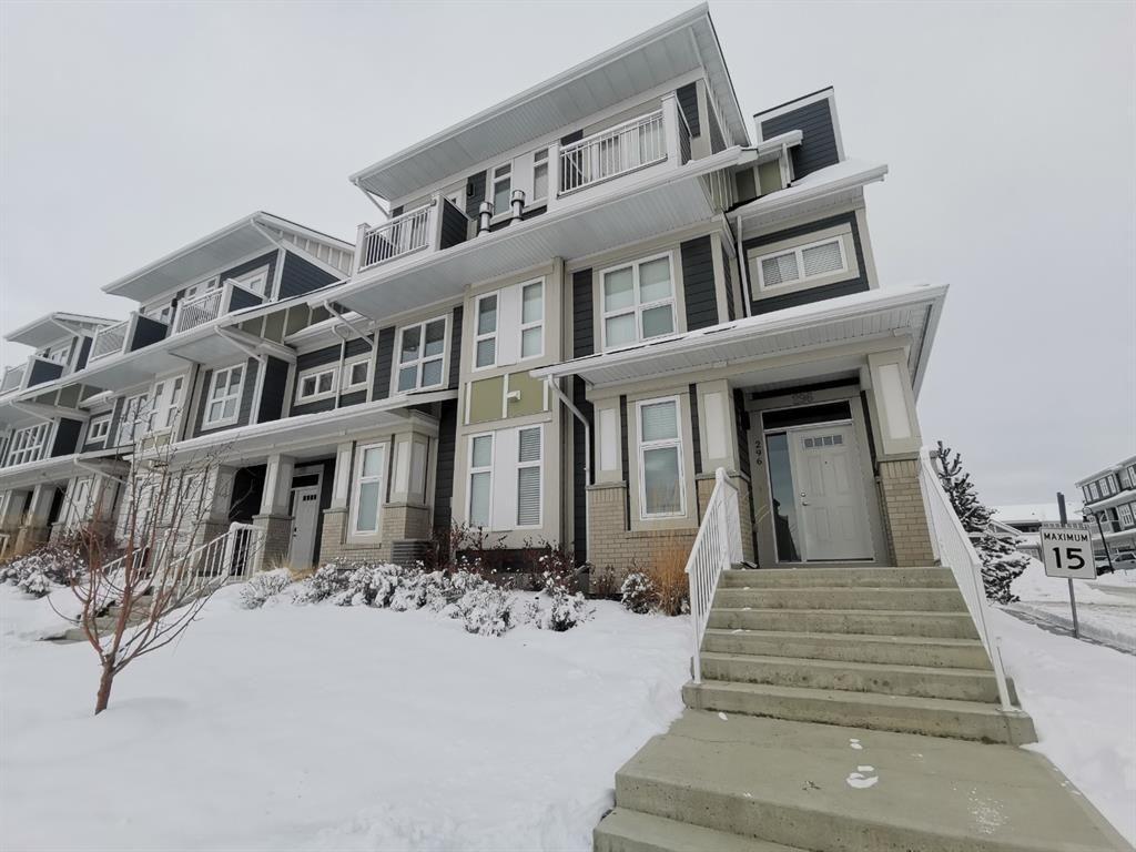 Main Photo: 296 Silverado Plains Park SW in Calgary: Silverado Row/Townhouse for sale : MLS®# A1065666