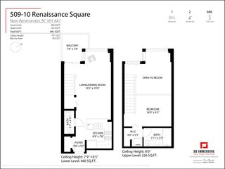 """Photo 18: 509 10 RENAISSANCE Square in New Westminster: Quay Condo for sale in """"Murano Lofts"""" : MLS®# R2591099"""