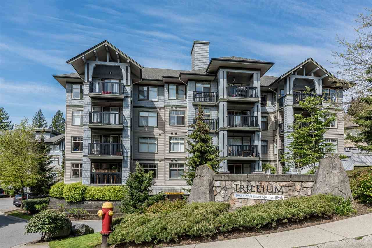 Main Photo: 105 2988 SILVER SPRINGS BOULEVARD in Coquitlam: Westwood Plateau Condo for sale : MLS®# R2165302
