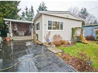 Photo 1: 31539 LOMBARD Avenue in Abbotsford: Poplar Manufactured Home for sale : MLS®# F1429021
